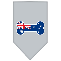 Mirage Pet Products Bone Flag Australian  Screen Print Bandana Grey Small
