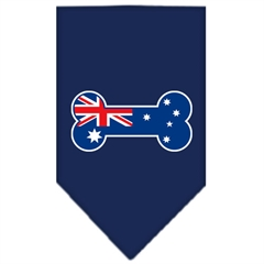 Mirage Pet Products Bone Flag Australian  Screen Print Bandana Navy Blue Small