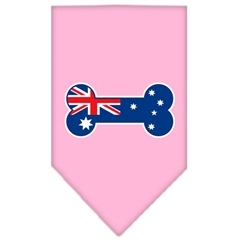 Mirage Pet Products Bone Flag Australian  Screen Print Bandana Light Pink Large