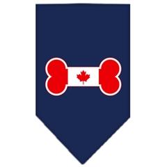 Mirage Pet Products Bone Flag Canadian  Screen Print Bandana Navy Blue Small
