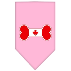 Mirage Pet Products Bone Flag Canadian  Screen Print Bandana Light Pink Large