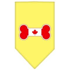 Mirage Pet Products Bone Flag Canadian  Screen Print Bandana Yellow Small