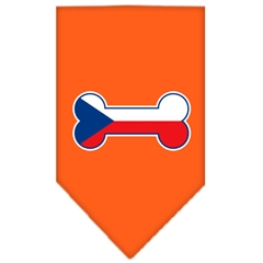 Mirage Pet Products Bone Flag Czech Republic  Screen Print Bandana Orange Small