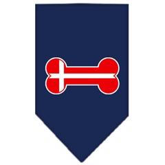 Mirage Pet Products Bone Flag Denmark  Screen Print Bandana Navy Blue Small