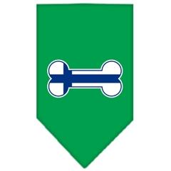 Mirage Pet Products Bone Flag Finland  Screen Print Bandana Emerald Green Small