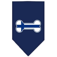 Mirage Pet Products Bone Flag Finland  Screen Print Bandana Navy Blue Small