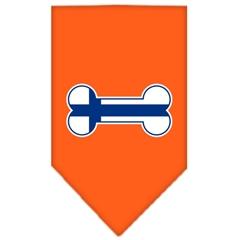 Mirage Pet Products Bone Flag Finland  Screen Print Bandana Orange Small
