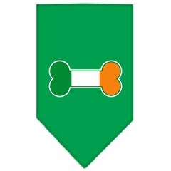 Mirage Pet Products Bone Flag Ireland Screen Print Bandana Emerald Green Large