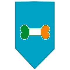 Mirage Pet Products Bone Flag Ireland Screen Print Bandana Turquoise Large
