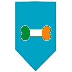 Mirage Pet Products Bone Flag Ireland Screen Print Bandana Turquoise Small