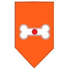 Mirage Pet Products Bone Flag Japan  Screen Print Bandana Orange Large