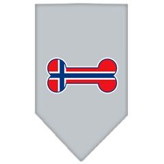 Mirage Pet Products Bone Flag Norway  Screen Print Bandana Grey Small