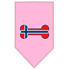 Mirage Pet Products Bone Flag Norway  Screen Print Bandana Light Pink Large