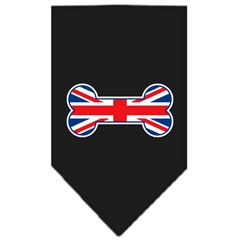 Mirage Pet Products Bone Flag UK  Screen Print Bandana Black Small