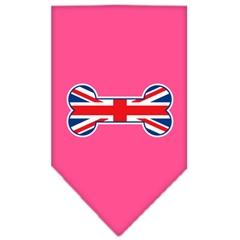 Mirage Pet Products Bone Flag UK  Screen Print Bandana Bright Pink Large