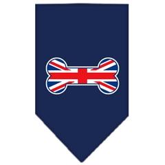 Mirage Pet Products Bone Flag UK  Screen Print Bandana Navy Blue Small