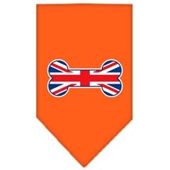 Mirage Pet Products Bone Flag UK  Screen Print Bandana Orange Small