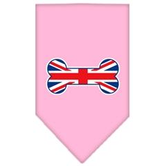 Mirage Pet Products Bone Flag UK  Screen Print Bandana Light Pink Small