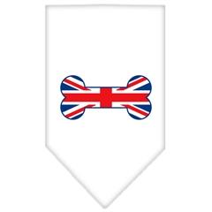 Mirage Pet Products Bone Flag UK  Screen Print Bandana White Small