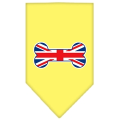 Mirage Pet Products Bone Flag UK  Screen Print Bandana Yellow Small