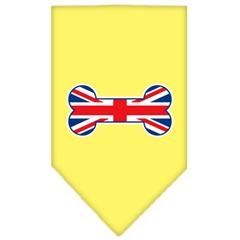 Mirage Pet Products Bone Flag UK  Screen Print Bandana Yellow Large
