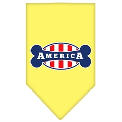 Mirage Pet Products Bonely in America Screen Print Bandana Yellow Small