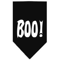 Mirage Pet Products Boo! Screen Print Bandana Black Large