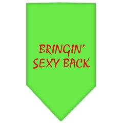 Mirage Pet Products Bringin Sexy Back Screen Print Bandana Lime Green Small