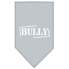 Mirage Pet Products Bully Screen Print Bandana Grey Large
