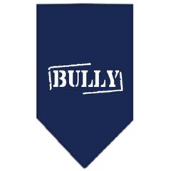Mirage Pet Products Bully Screen Print Bandana Navy Blue Small