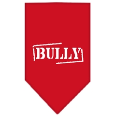 Mirage Pet Products Bully Screen Print Bandana Red Large