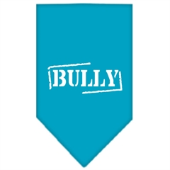 Mirage Pet Products Bully Screen Print Bandana Turquoise Small