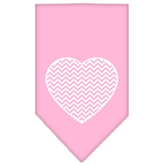 Mirage Pet Products Chevron Heart Screen Print Bandana Light Pink Small