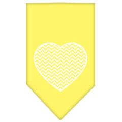 Mirage Pet Products Chevron Heart Screen Print Bandana Yellow Large