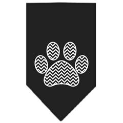 Mirage Pet Products Chevron Paw Screen Print Bandana Black Small
