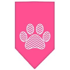 Mirage Pet Products Chevron Paw Screen Print Bandana Bright Pink Small