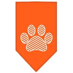 Mirage Pet Products Chevron Paw Screen Print Bandana Orange Large