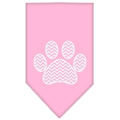 Mirage Pet Products Chevron Paw Screen Print Bandana Light Pink Small