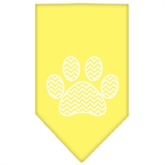 Mirage Pet Products Chevron Paw Screen Print Bandana Yellow Large