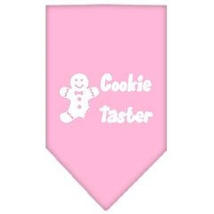 Mirage Pet Products Cookie Taster Screen Print Bandana Light Pink Small