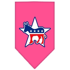 Mirage Pet Products Democrat Screen Print Bandana Bright Pink Large