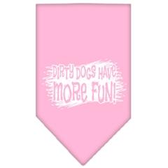 Mirage Pet Products Dirty Dog Screen Print Bandana Light Pink Large