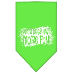 Mirage Pet Products Dirty Dog Screen Print Bandana Lime Green Small