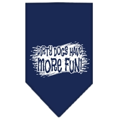 Mirage Pet Products Dirty Dog Screen Print Bandana Navy Blue Small