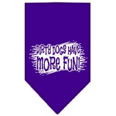 Mirage Pet Products Dirty Dog Screen Print Bandana Purple Small