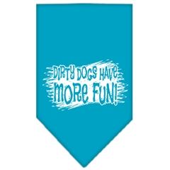 Mirage Pet Products Dirty Dog Screen Print Bandana Turquoise Large