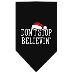 Mirage Pet Products Dont Stop Believin Screen Print Bandana Black Small