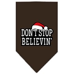 Mirage Pet Products Dont Stop Believin Screen Print Bandana Cocoa Small