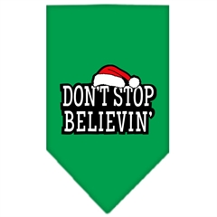Mirage Pet Products Dont Stop Believin Screen Print Bandana Emerald Green Large