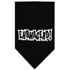 Mirage Pet Products Ehrmagerd Screen Print Bandana Black Large
